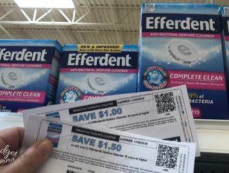 Awesome Savings on Efferdent!  #EfferdentSavings