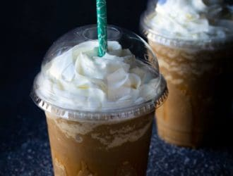 Keto Salted Caramel Frappuccino
