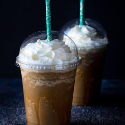 Keto Salted Caramel Frappuccino