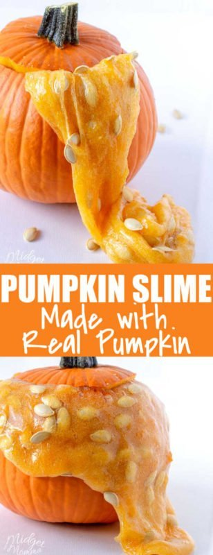Pumpkin Slime using a real pumpkin is a fun fall craft for kids. It is easy to make pumpkin slime with a real pumpkin, all you need are a few ingredients including the pumpkin guts, to make pumpkin slime!