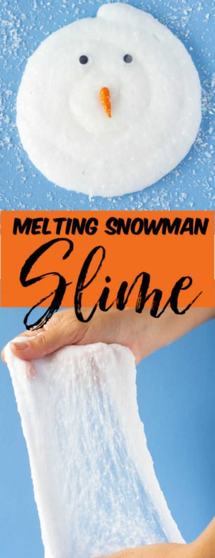 Melting Snowman Slime Made With Snow Slime Midgetmomma