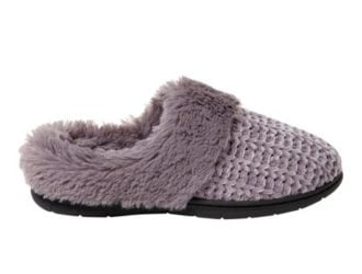 DF by Dearfoams Woman's Chenille Clog with Cuff Slippers on Rollback to $6.95 ($30)