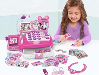 On Rollback for 50% off!  Minnie's Happy Helpers Shop N' Scan Talking Cash Register