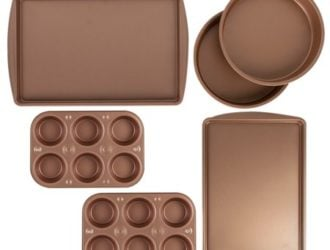 Be ready to Bake!  BakerEze 6 Piece Copper Nonstick Bakeware Set ONLY $14.88