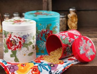 Hot Rollback!  The Pioneer Woman Country Garden 3-Piece Canister Set Over Half Off!
