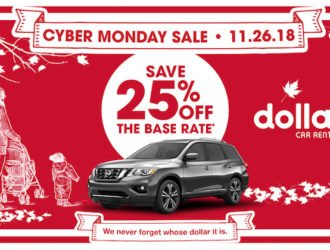 Dollar Car Rental Cyber Monday Deal! Score 25% off with Coupon Code!
