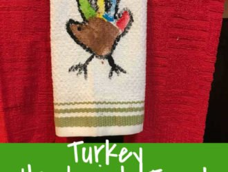 Turkey Handprint Craft Kitchen Towel