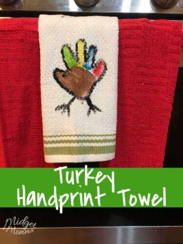 Turkey Handprint Craft Kitchen Towel