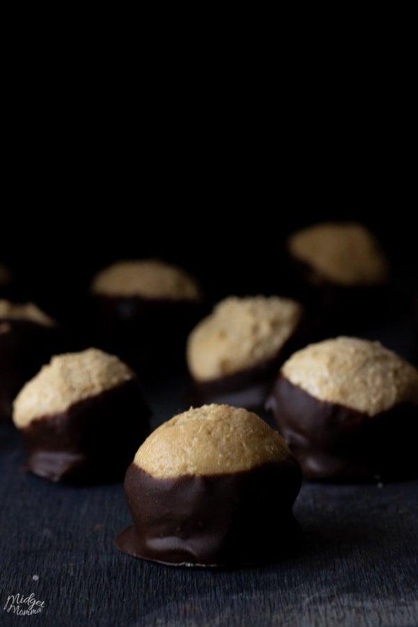 Keto Buckeye Chocolate peanut butter balls Fat Bombs