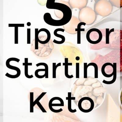 Tips for starting keto