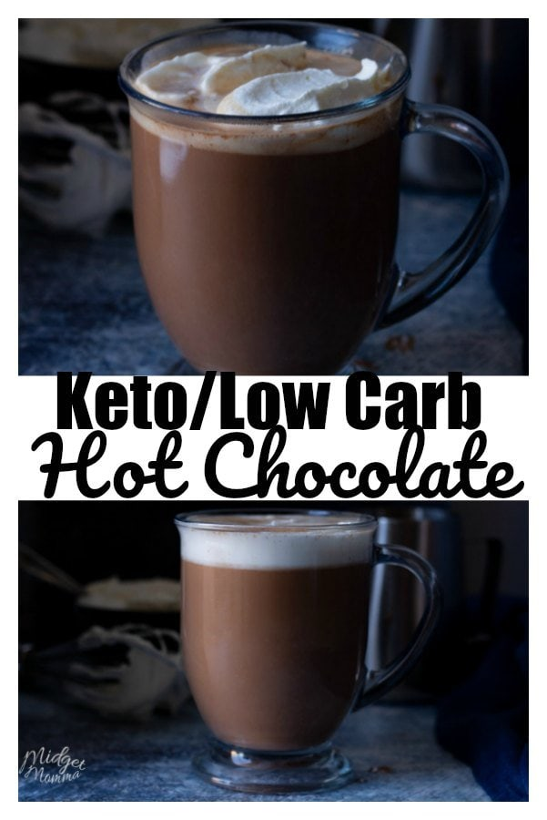 Nothing beats a great cup of hot chocolate on a cold winter day. This low carb hot chocolate is the perfect drink for a cold day when you want a warm cup of hot chocolate. This recipe is low carb, sugar free and absolutely delicious. #keto #lowcarb #hotChocolate
