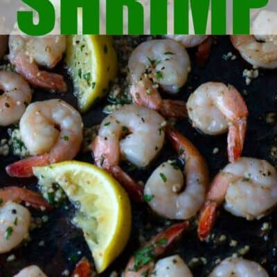 Lemon Garlic Shrimp. This quick and easy baked Lemon Garlic Shrimp recipe is the perfect easy dinner recipe. Just a few minutes of prep and a few minutes of cooking and dinner is done! #Shrimp #keto #lowcarb #BakedShrimp #EasyShrimp #Lemon #Garlic