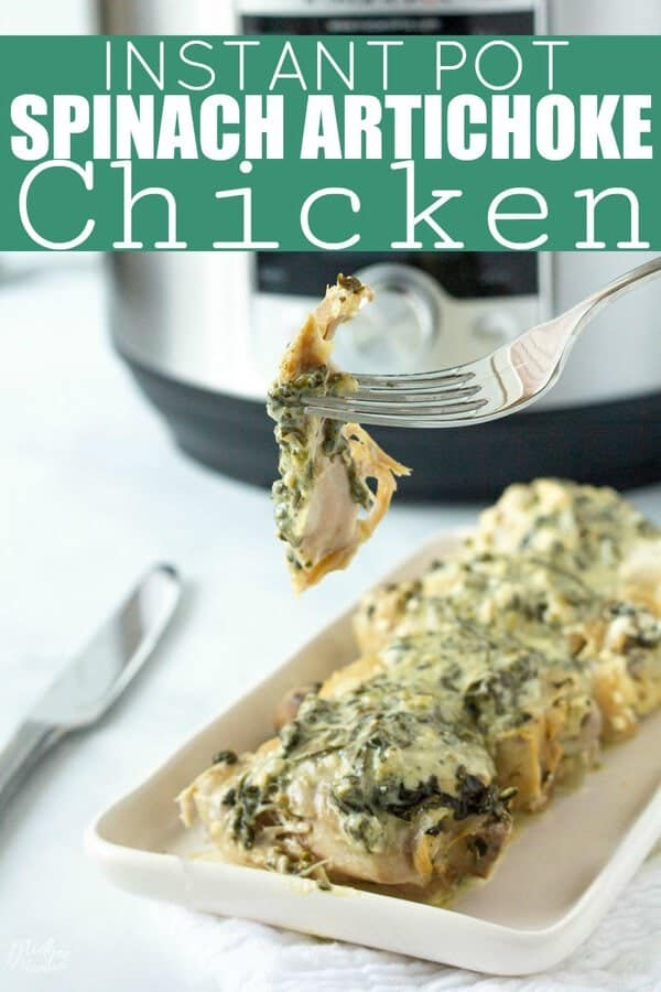 Spinach Artichoke Instant Pot Chicken Thighs. If you are looking for an amazing instant pot chicken recipe, that the whole family will love then you have to make this amazing Spinach Artichoke Instant Pot Chicken Thighs! Plus this tasty chicken recipe is also low carb and keto friendly!