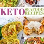 If you are looking for amazing keto seafood recipes this list is the perfect keto seafood recipe list! From Keto Shrimp, to Keto Salmon and Keto Scallops and more this keto seafood list is amazing and will have you enjoying amazing Keto seafood dinners! #seafood #keto #lowCarb #ketogenic #Ketodiet #LowCarbDiet #ketoSeafood