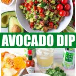 WOW Your family and friends with this amazing spicy avocado dip! A simple dip recipe, made with fresh ingredients including avocados and tomatoes. Perfect for taco night dinner or a game day snack! #SavorWinningFlavors #AvocadosFromMexico #HAVEARITA AND #FlavorYourWorld