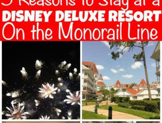 Disney deluxe resort on monorail line