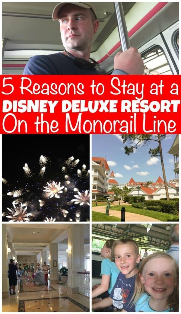 Disney deluxe resort on monorail line