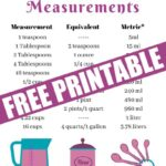 Have all the liquid measurements on hand easily with this how many quarts are in a gallon, pints in a quart, cups in a quart Printable kitchen Cheat Sheet.