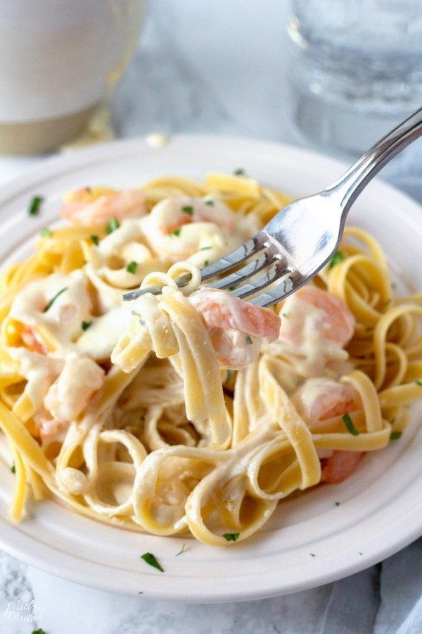 Shrimp Alfredo Recipe With Homemade Alfredo Sauce Midgetmomma