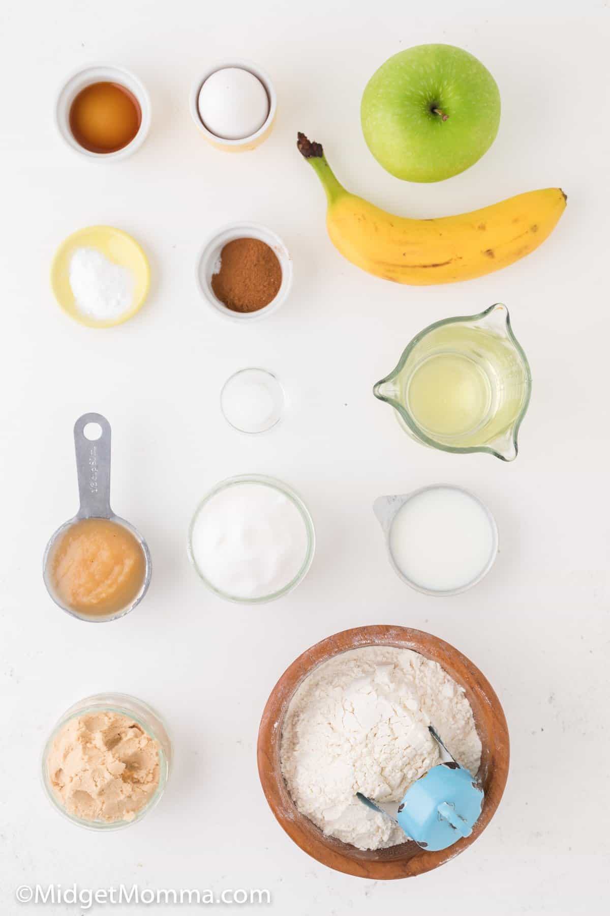 Banana Apple Bread ingredients
