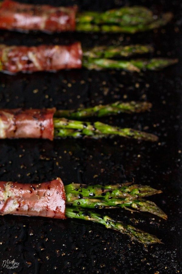 Capocollo Wrapped Asparagus With Balsamic Reduction