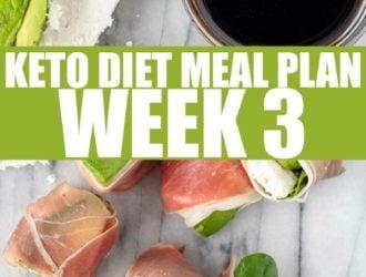 Keto Diet meal plan week 3