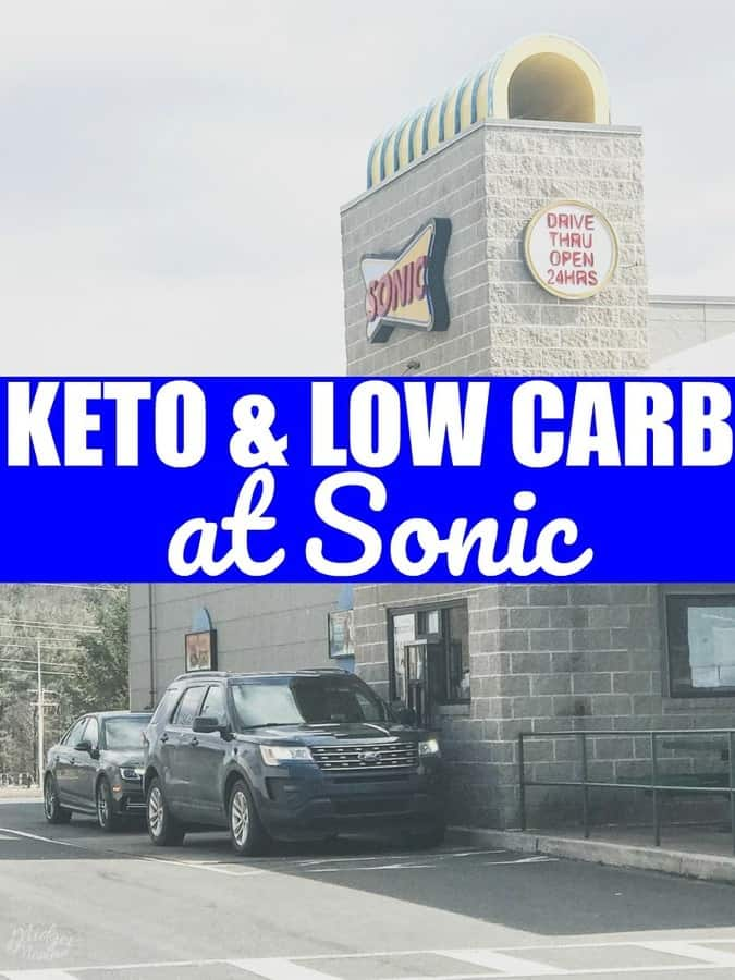 Low carb and Keto at Sonic