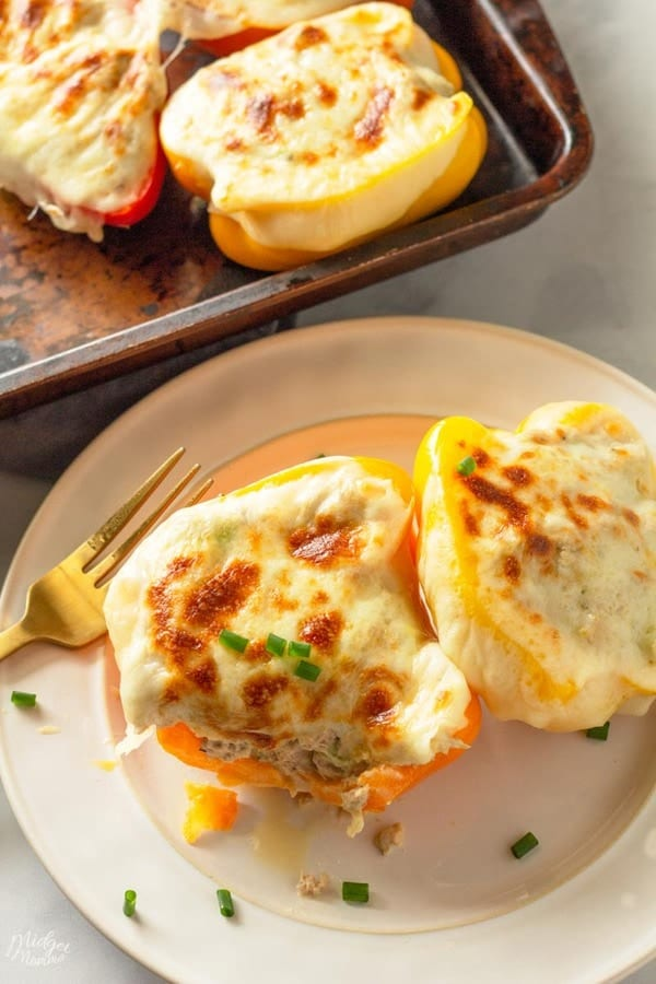 Tuna Melt Stuffed Peppers
