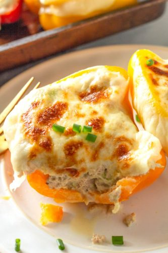 Tuna Melt Low Carb Stuffed Peppers