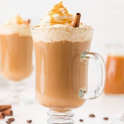 Starbucks Caramel Macchiato recipe in a glass cup