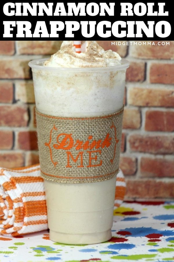This Cinnamon Roll Frappuccino Recipe is one of the tastiest starbucks copycat frappuccino recipes.