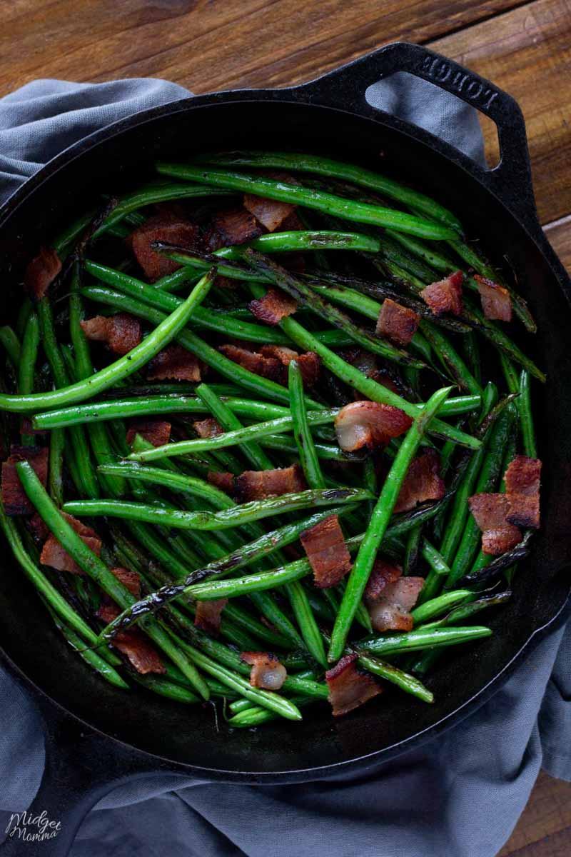 garlic green beans with bacon