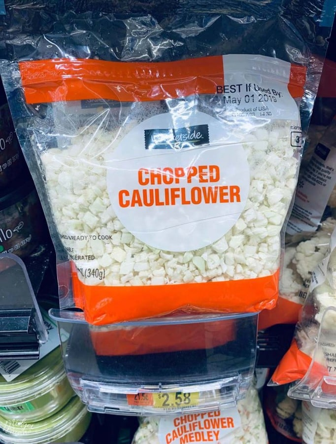 chopped cauliflower at Walmart