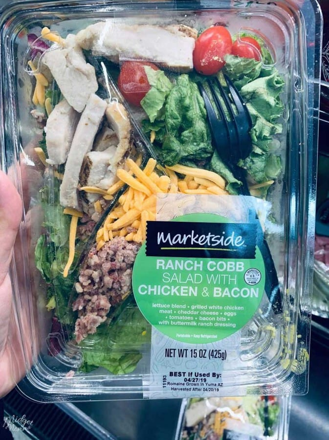 Marketside Ranch Cobb Salad at Walmart for Keto Lunch Idea