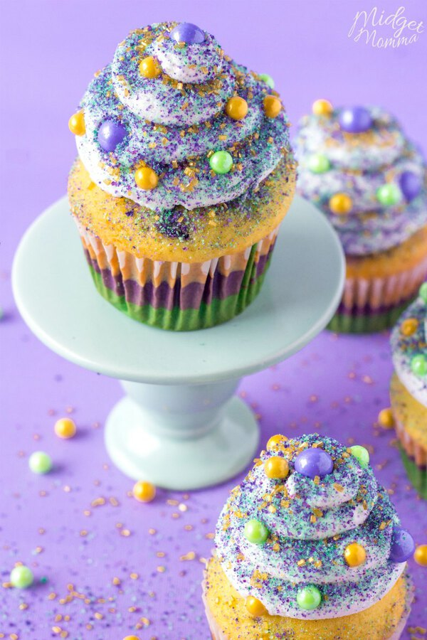 Mardi gras cupcakes recipe