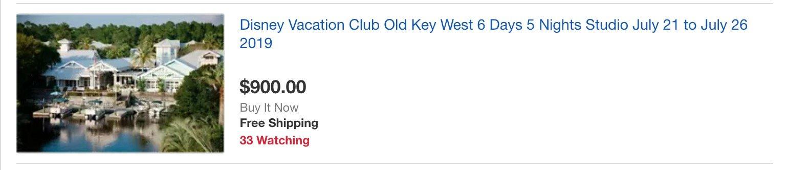 Ebay DVC Rental