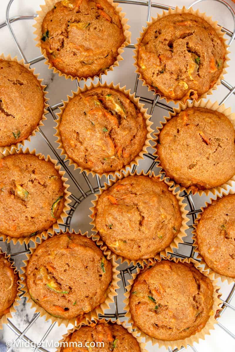 close up photo Zucchini Carrot Muffins