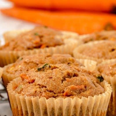 close up Zucchini Carrot Muffins photo