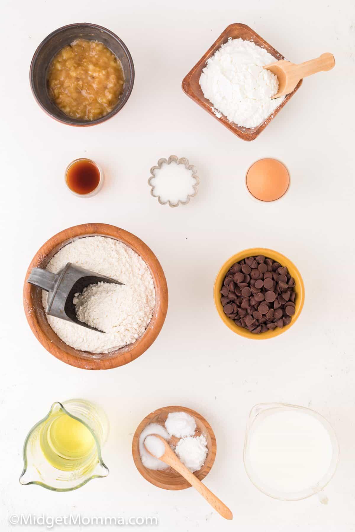 banana chocolate chip waffles ingredients