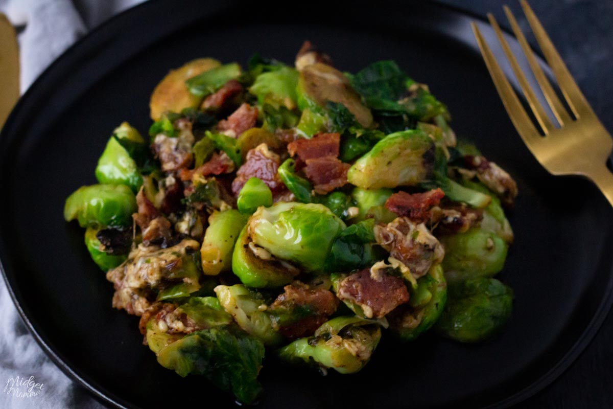 Cheesy Brussel Sprouts With Bacon Midgetmomma