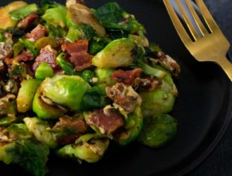 This Cheesy Brussel Sprouts with Bacon recipe is for sure going to make anyone who says they do not like brussel sprouts, change their mind!
