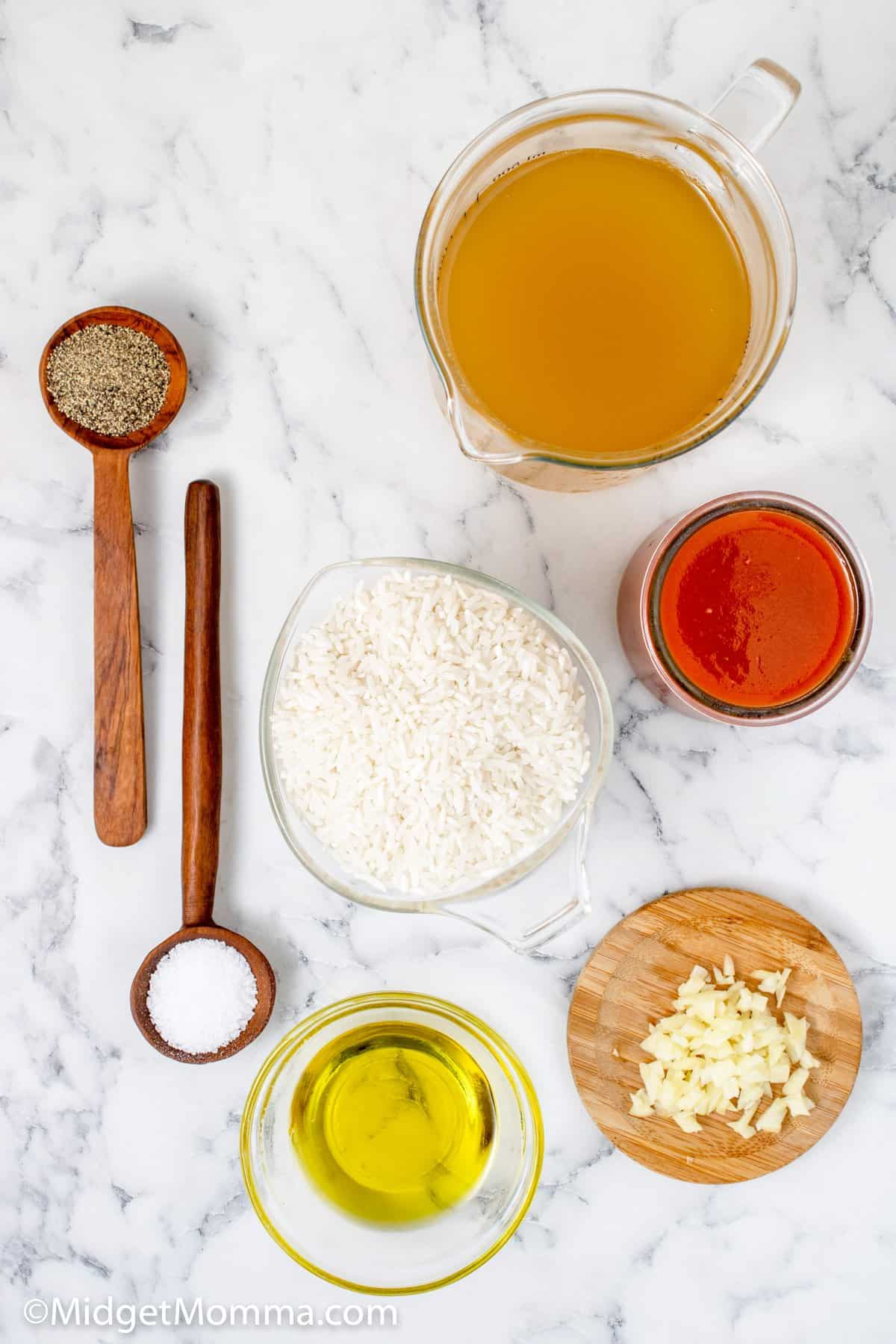 Easy Mexican Rice Recipe ingredients
