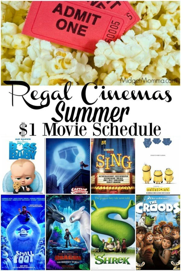 Regal Summer movies 2019