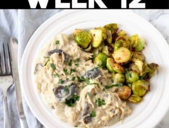week 12 keto diet meal plan