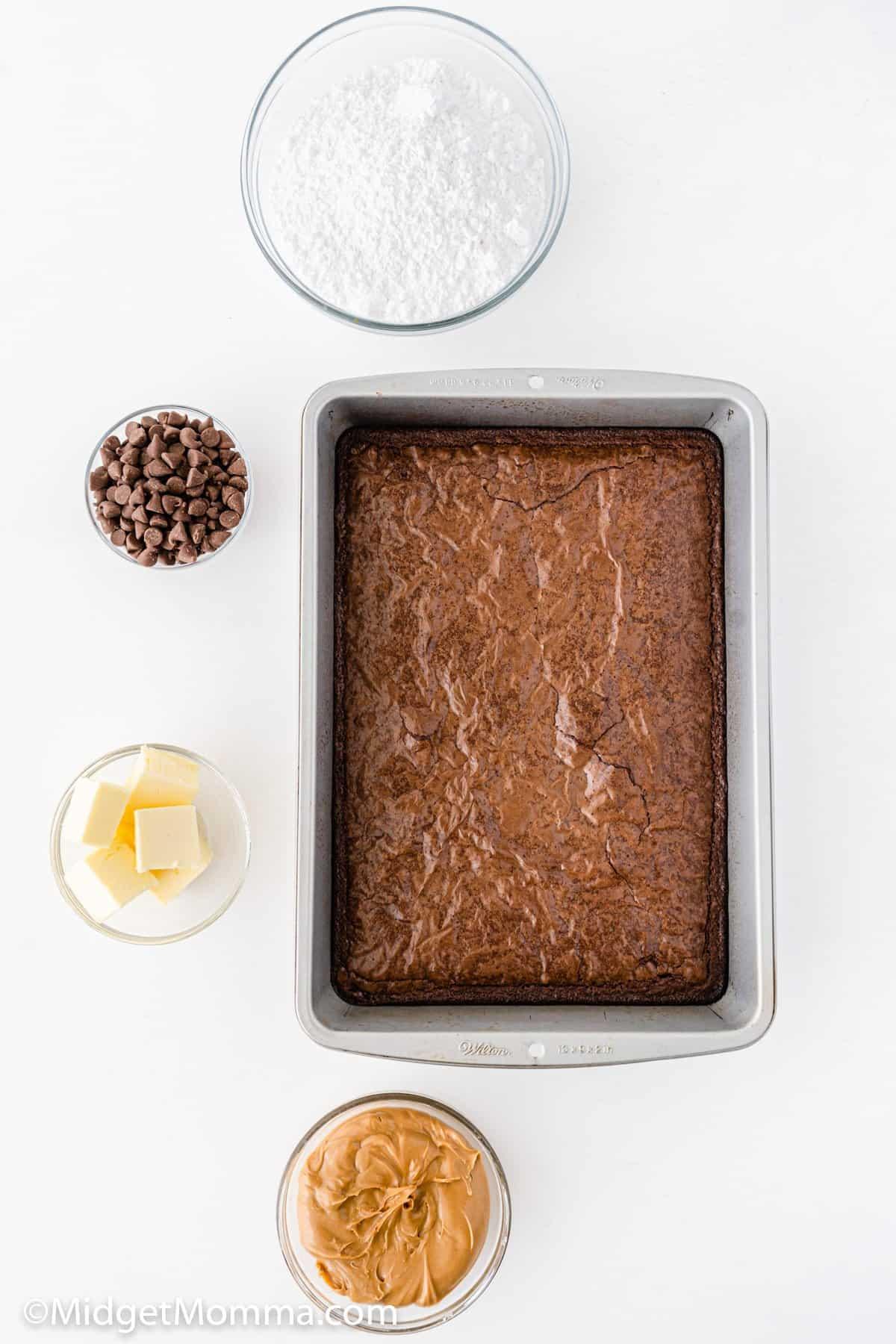 Buckeye Brownies Recipe ingredients