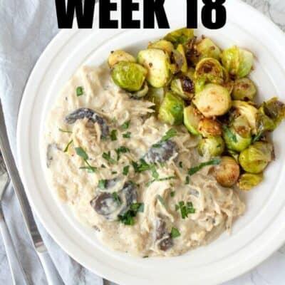 Keto Meal Plan Week 18