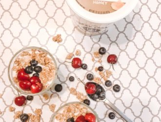 Fruit & Granola Greek Yogurt Parfaits with Greek Gods® Greek-Style Yogurt. #ad #Breakfast #MidgetMomma #Yogurt