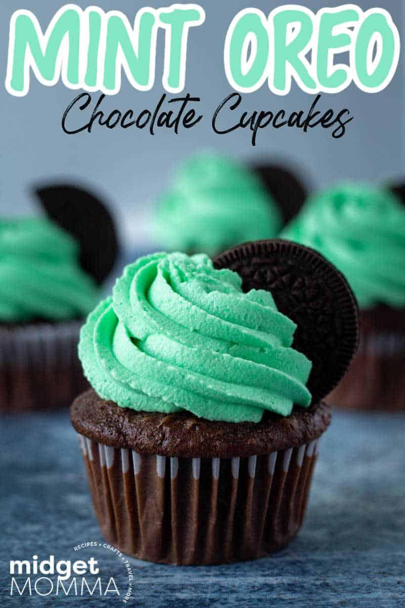 Mint Oreo Cupcakes recipe