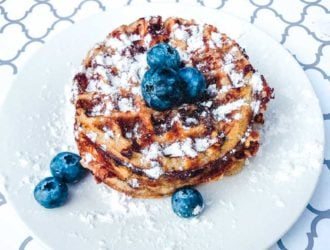 Blueberry Keto Chaffle