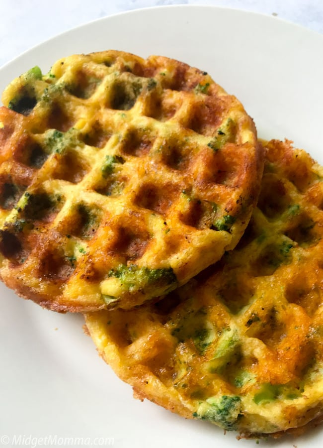 Broccoli and cheddar cheese chaffle